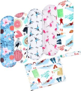 1. Wegreeco Bamboo Reusable Sanitary Pads -5 Pack