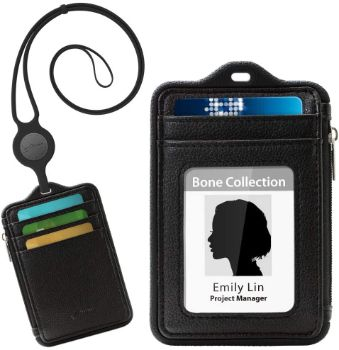 10. Bone Collection ID Badge Holder with Lanyard (Black)