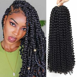 10. Passion Twist Hair 18Inch Water Wave Crochet Hair, 6 Packs