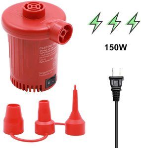 10. Tuomico Electric Air Pump, Portable Quick-Fill