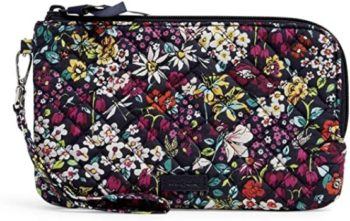 #10. Vera Bradley Signature Cotton Wristlet with RFID Protection