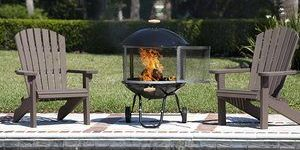 2. Bessemer 01471 28 Patio Fireplace, Black and Silver