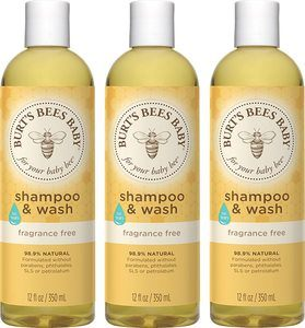 2. Burt's Bees Baby Shampoo & Wash (Pack of 3)