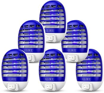 2. GLOUE Bug Zapper, Electronic Insect Killer (6 Packs)