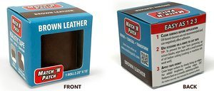 2. Match 'N Patch Realistic Brown Leather Repair Tape
