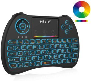 2. Mitid Wireless Mini Keyboard RGB Backlit 2.4G Remote