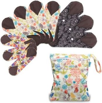 2. Teamoy Reusable Menstrual Pads, 10Pcs