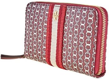 2. Tory Burch Gemini Link Canvas Zip Continental Wallet