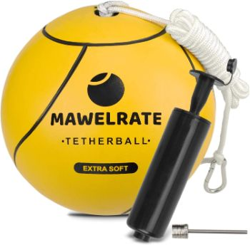 3. MAWELRATE Tetherball and Rope Set