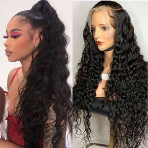 4. ARIETIS 16 Inch 360 Water Wave Lace Frontal Wigs
