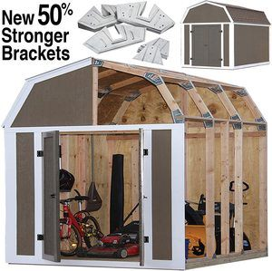 4. EZ Shed 70188 Barn Style Instant Framing Kit
