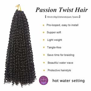 5. 18 Inch Water Wave Synthetic Braids, 7 Packs
