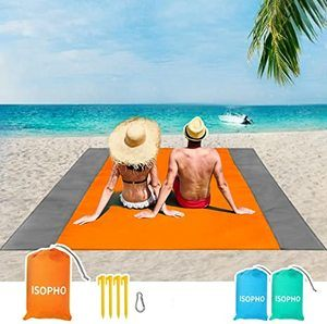 5. ISOPHO Beach Blanket for 3-7 Adults