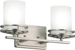 5. Kichler 5077NI Hendrik Vanity, 2 Light Incandescent