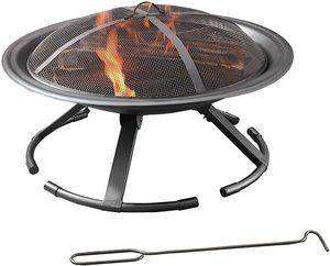6. Pleasant Hearth OFW222RFN-1 Round Grab N' Go Fire Pit Wall Heater