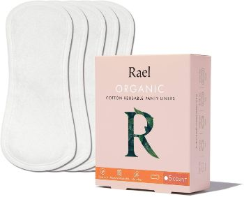6. Rael Organic Reusable Cloth Pantyliners
