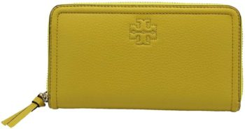6. Tory Burch 67306-707 Daylily Thea Multi-Gusset Wallet