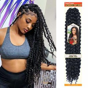 6. Toyotress Passion Twist Hair Water Wave Crochet Braids