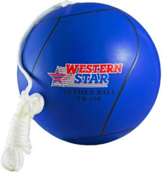 6. Western Star Full Size Tetherball with Rope Set