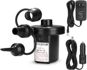 7. AGPtEK Portable Quick-Fill Air Pump with 3 Nozzles