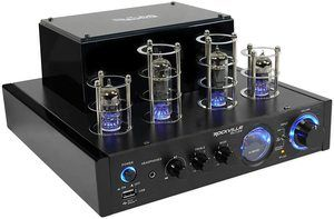 7. Rockville BluTube LED 70W Bluetooth Tube Amplifier