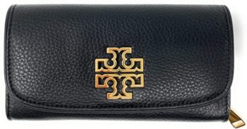7. Tory Burch Britten Duo Envelope Continental Leather Wallet