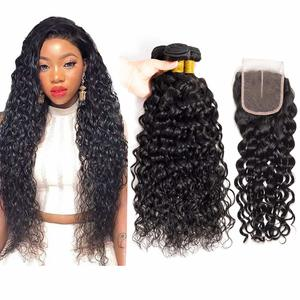 8. Brazilian Water Wave Bundles with Closure 3 Bundles