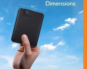 8. WD 4TB Elements Portable External Hard Drive