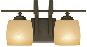 9. Hampton Bay 2-Light Bronze Vanity Light