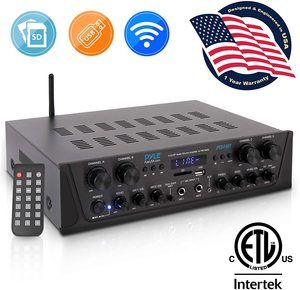 9. Pyle 500W Karaoke Wireless Bluetooth Amplifier