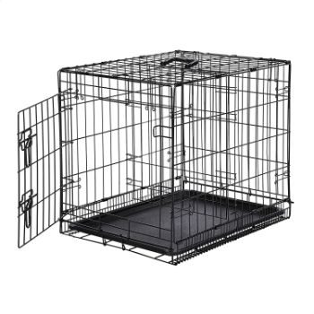 #1. AmazonBasics Dog or Pet Crate Kennel