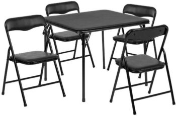 1. Flash Furniture Kids 5pc Folding Table and Chair