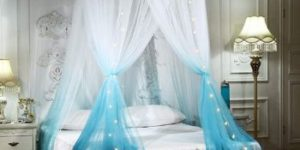 #10. Mengersi Princess Romantic Bed Round Canopy Bed Curtains