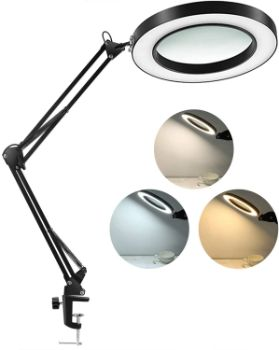 #2 LANCOSC LED Magnifying Lamp 1,500 Lumens 3 Color Modes