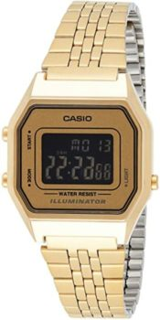 #2. Casio LA-680WGA-9B –Quartz Movement