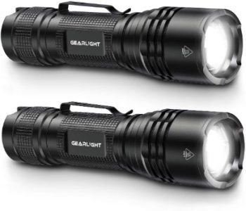 #2. GearLight TAC Flashlight [2 PACK] - LED Tactical