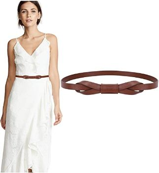 #2. JASGOOD Women Skinny Belt PU Leather
