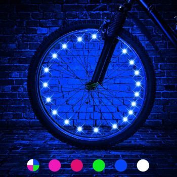 2. TINANA 2-Tire Pack LED Bike Wheel Lights