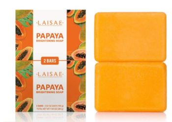#3 Papaya Brightening Soap-Reduces Acne Scars