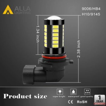 #3. Alla Lighting 9006 Xtreme Super Bright LED Fog Light