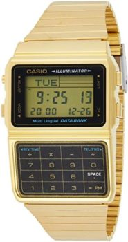 #3. Casio #DBC611G-1D Gold Tone Men's Calculator