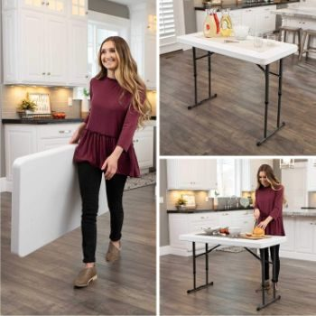 #3. Lifetime 80160 Commercial Height Adjustable Folding Table