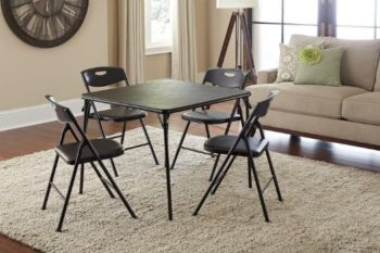 4. Cosco 5pc Folding Card Table and Chair Set