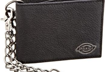 4. Dickies Men's Bifold Chain Wallet-High Security