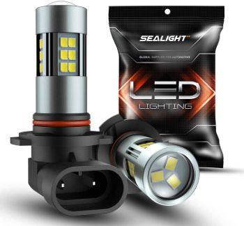 #4. SEALIGHT H10, 6000K LED Fog Light Bulbs
