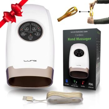 #5. Lunix Electric Cordless Hand Massager