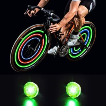 5. MapleSeeker Bike Wheel Lights with Batteries