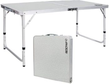 #5. REDCAMP Aluminum Folding Table