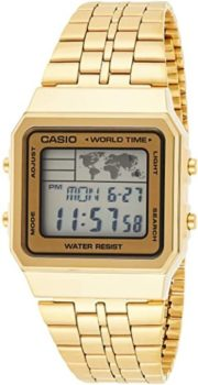 #6. CASIO Men's A500WGA-9DF Digital World TIME