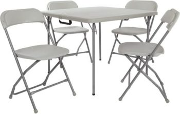 6. Office Star 5pc Folding Card Table and Chair Set